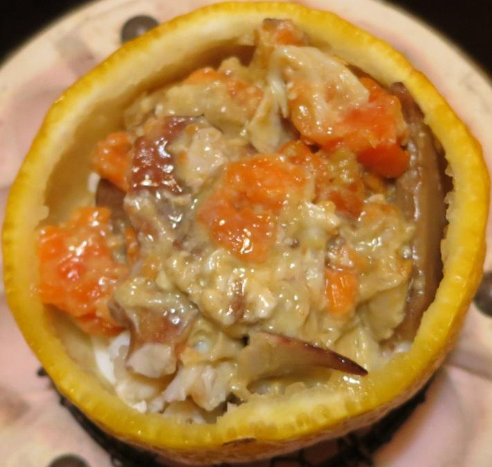 蟹の柚子釜蒸し