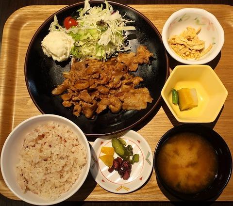 生姜焼定食(東邦食堂)800
