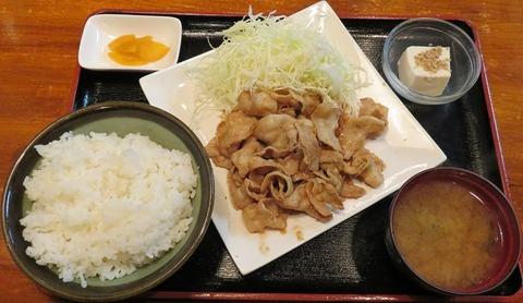 豚肉生姜焼定食(肉大盛)900