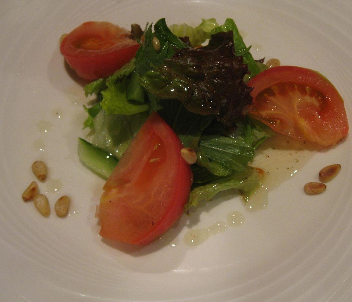 松の実と新鮮野菜のサラダハーフサイズ