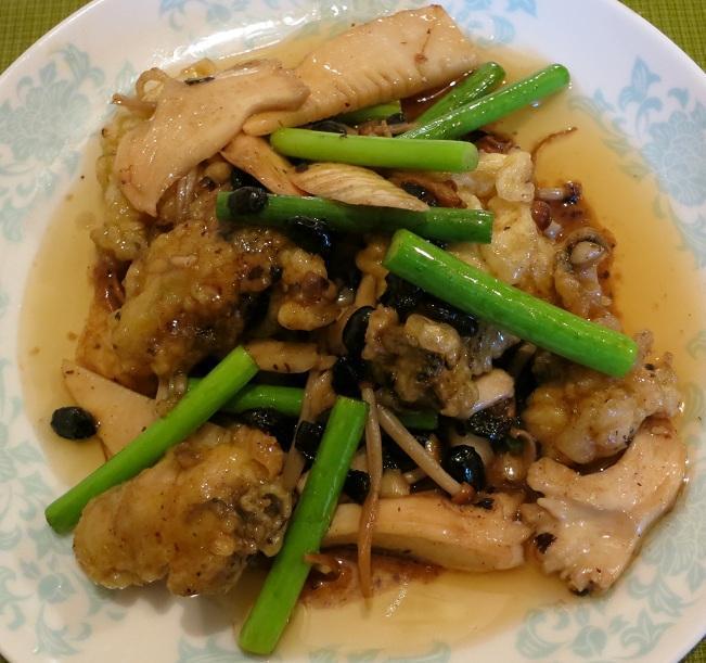 牡蠣の炒めもの