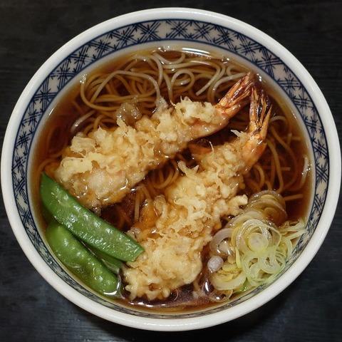 天ぷらそば(大村庵)1000