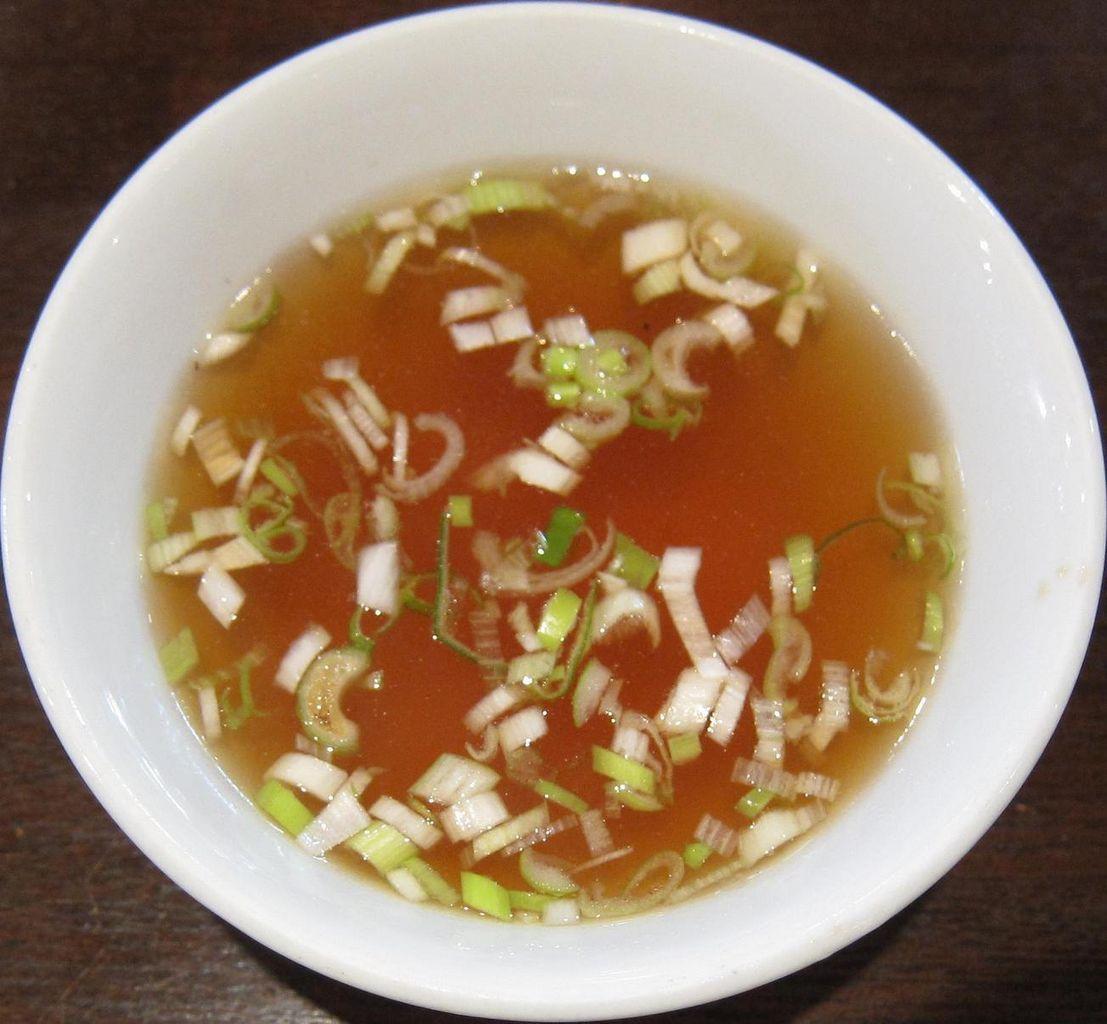 やきそばに付いてたスープ