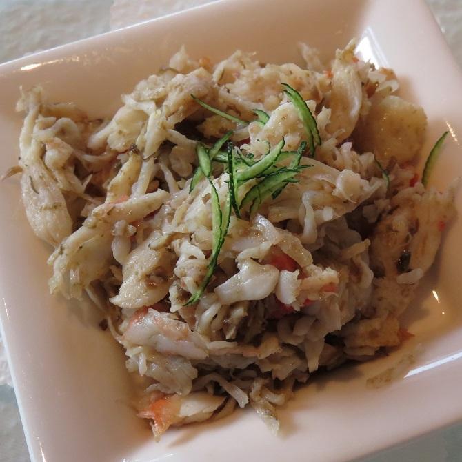タラバ蟹の蟹味噌和え