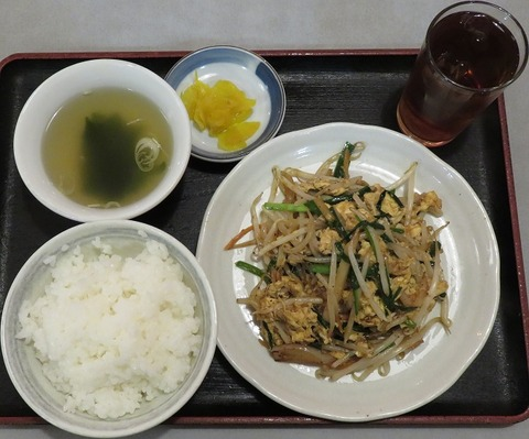 ニラ玉子炒め定食800
