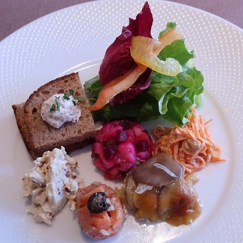 前菜とサラダの盛り合わせ(ロゴスキー)