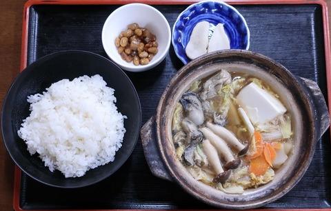 カキ鍋定食(いろは食堂)850