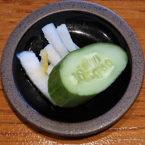 漬物(聖せき亭)