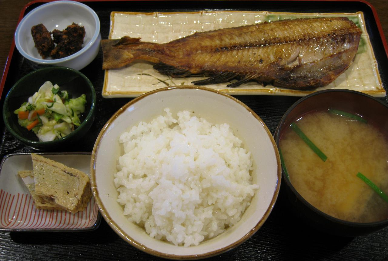 焼魚定食(ホッケ)