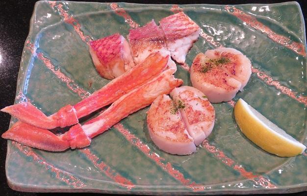 かに・貝柱・季節の魚