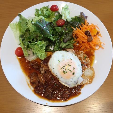 豆腐ハンバーグ+目玉焼(コクーン)1210