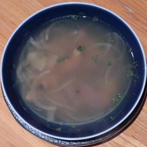 アサリとオニオンノコンソメスープ(グラス)480