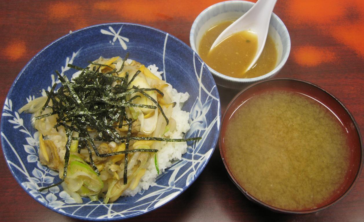 深川丼&味噌汁