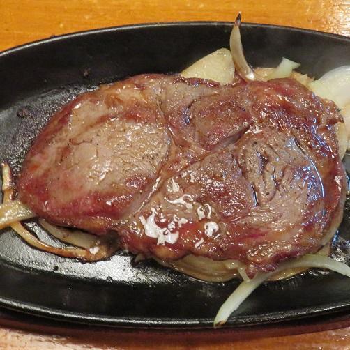 牛ステーキ鉄板焼