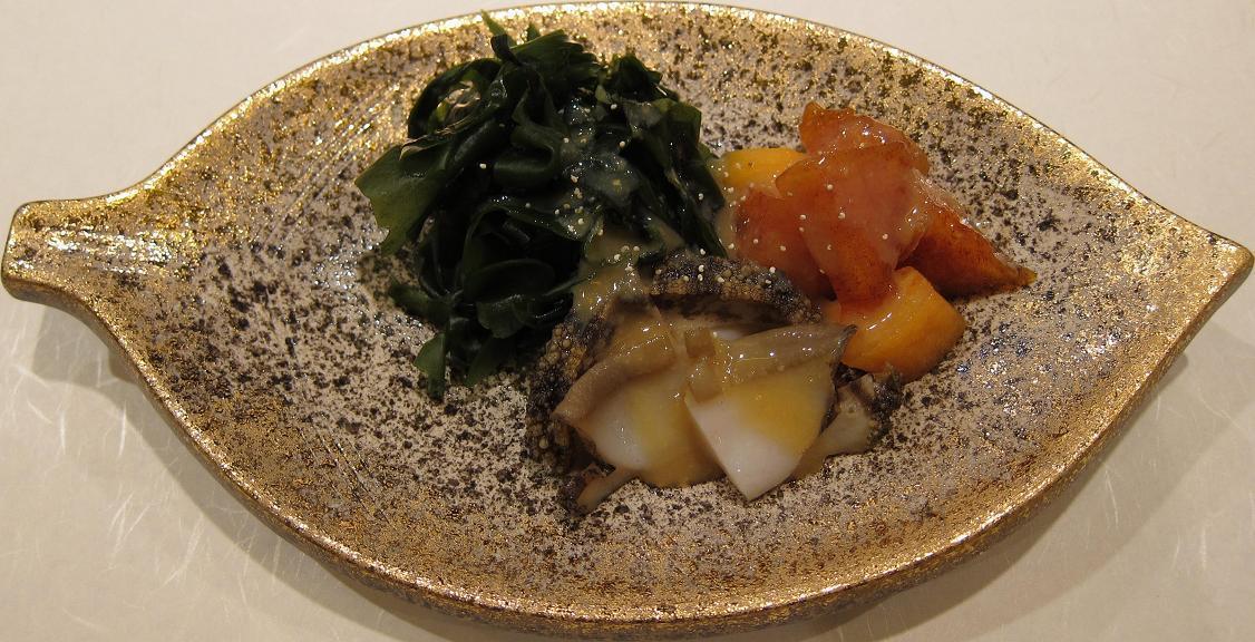 鮑と牡蠣の柚子酢味噌