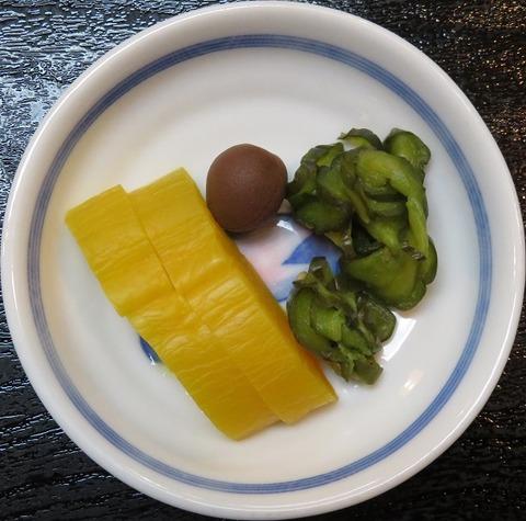 漬物(三崎庵・天丼)