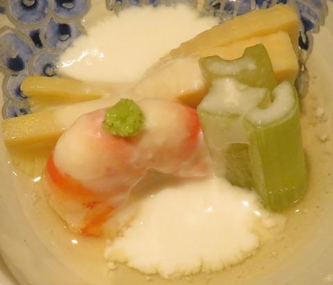 筍と蕗の煮物胡桃餡(紋屋)