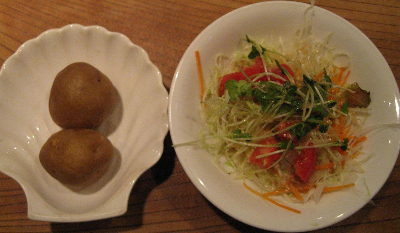 付け合わせポテト&サラダ