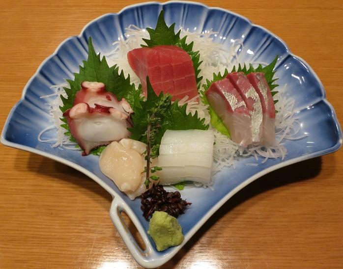 刺身盛合せ(竹)1600円