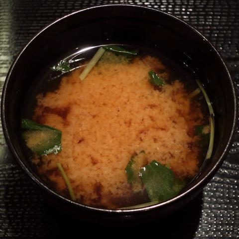 味噌汁(藪伊豆)