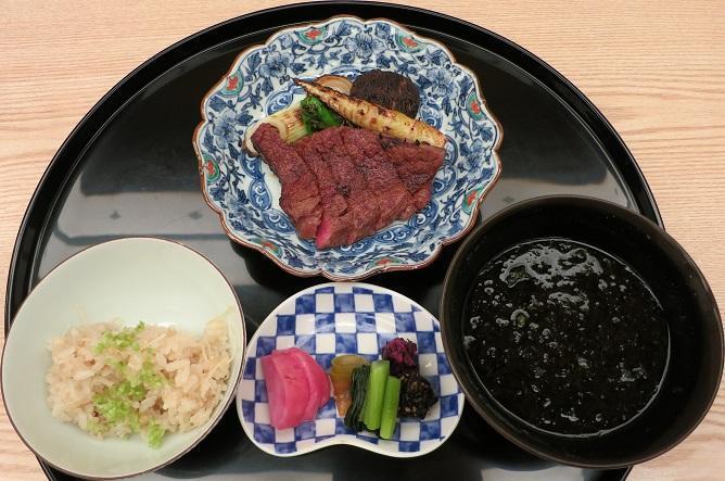 黒毛和牛ヒレつけ焼き+生姜御飯+赤出汁