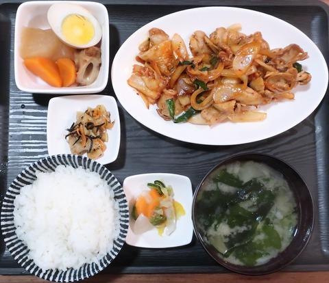 豚キムチ炒め定食(一煎)858