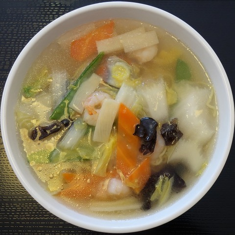 海老スープそば(龍栄)1200