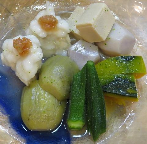 ハモくず煮と野菜のたき合せ750