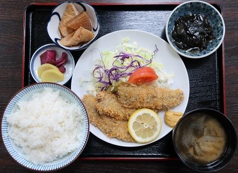 鰯フライ定食(なべちゃん)750