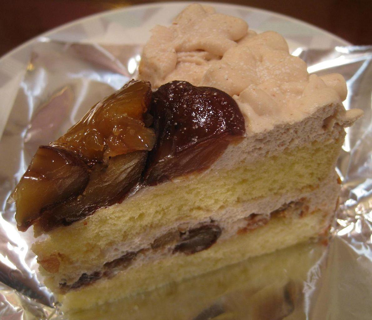 渋皮マロンのショートケーキ