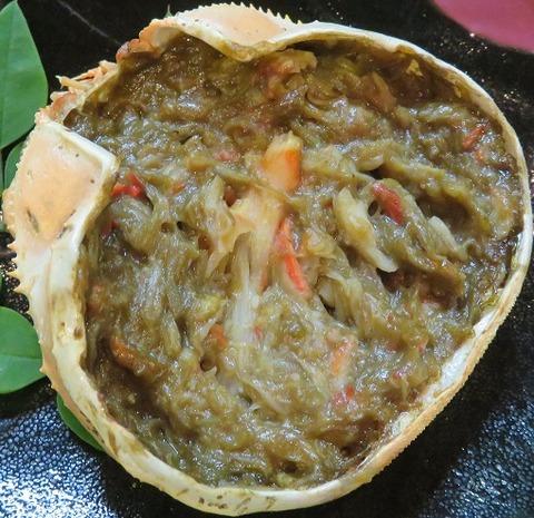 蟹味噌甲羅焼(喜多八)600