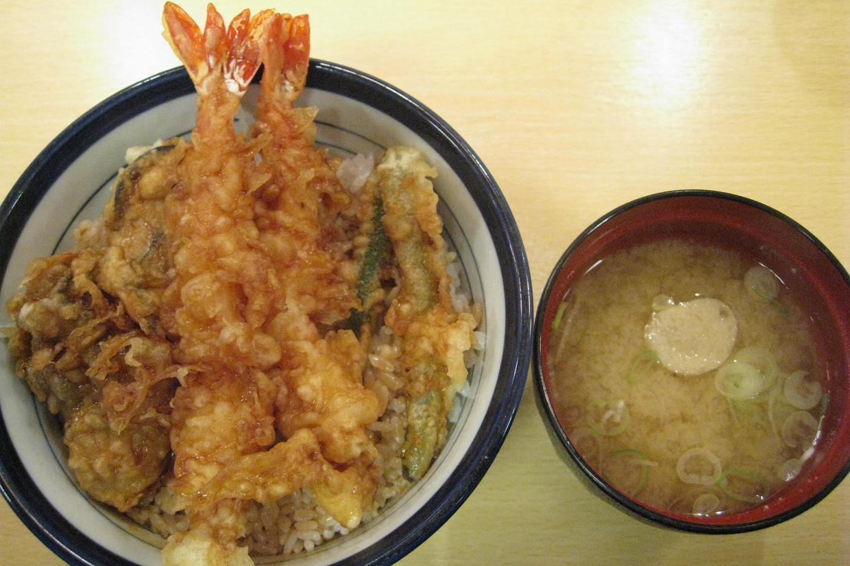 海老牡蠣天丼