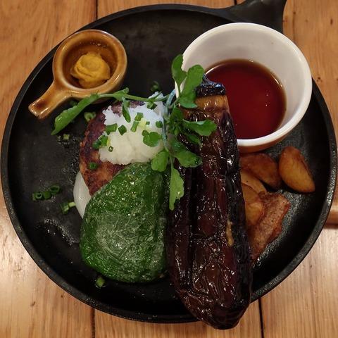 季節野菜のプレミアム和風ハンブルグステーキ(つばめグリル)