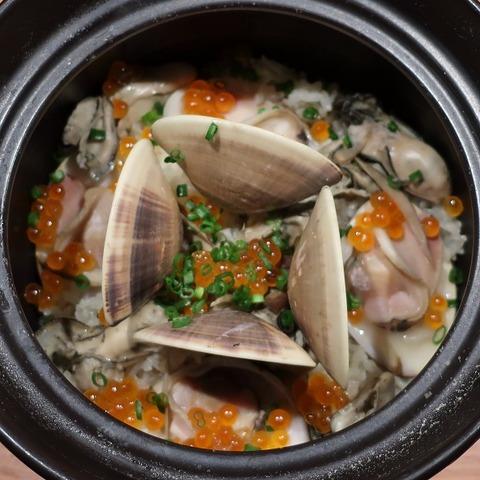 牡蠣と蛤の土鍋ごはん(魚トの神)1480
