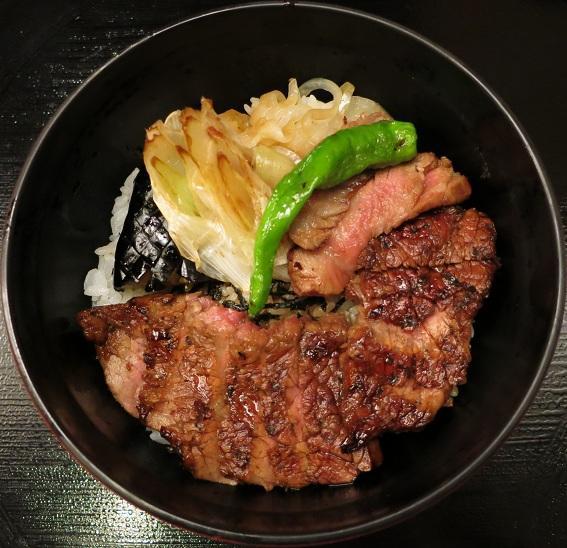 ステーキ丼アップ