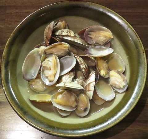 アサリ酒蒸し1(風来坊)