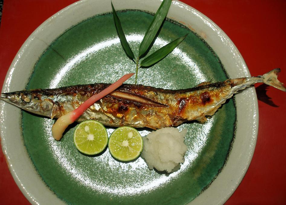 新秋刀魚塩焼