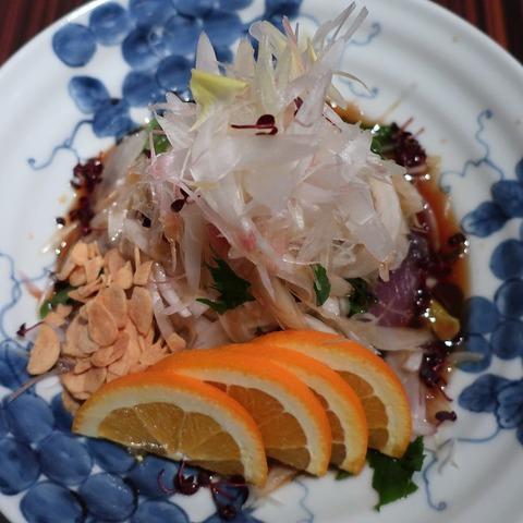 藁焼き鰹のたたき(かがり)2800