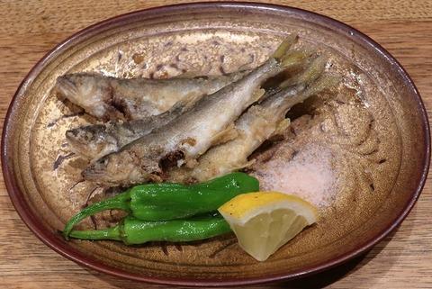 琵琶湖産稚鮎唐揚(喜重朗)858