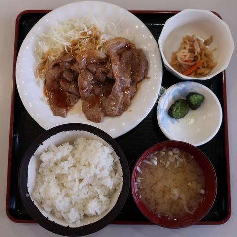 生姜焼定食(六号亭)750