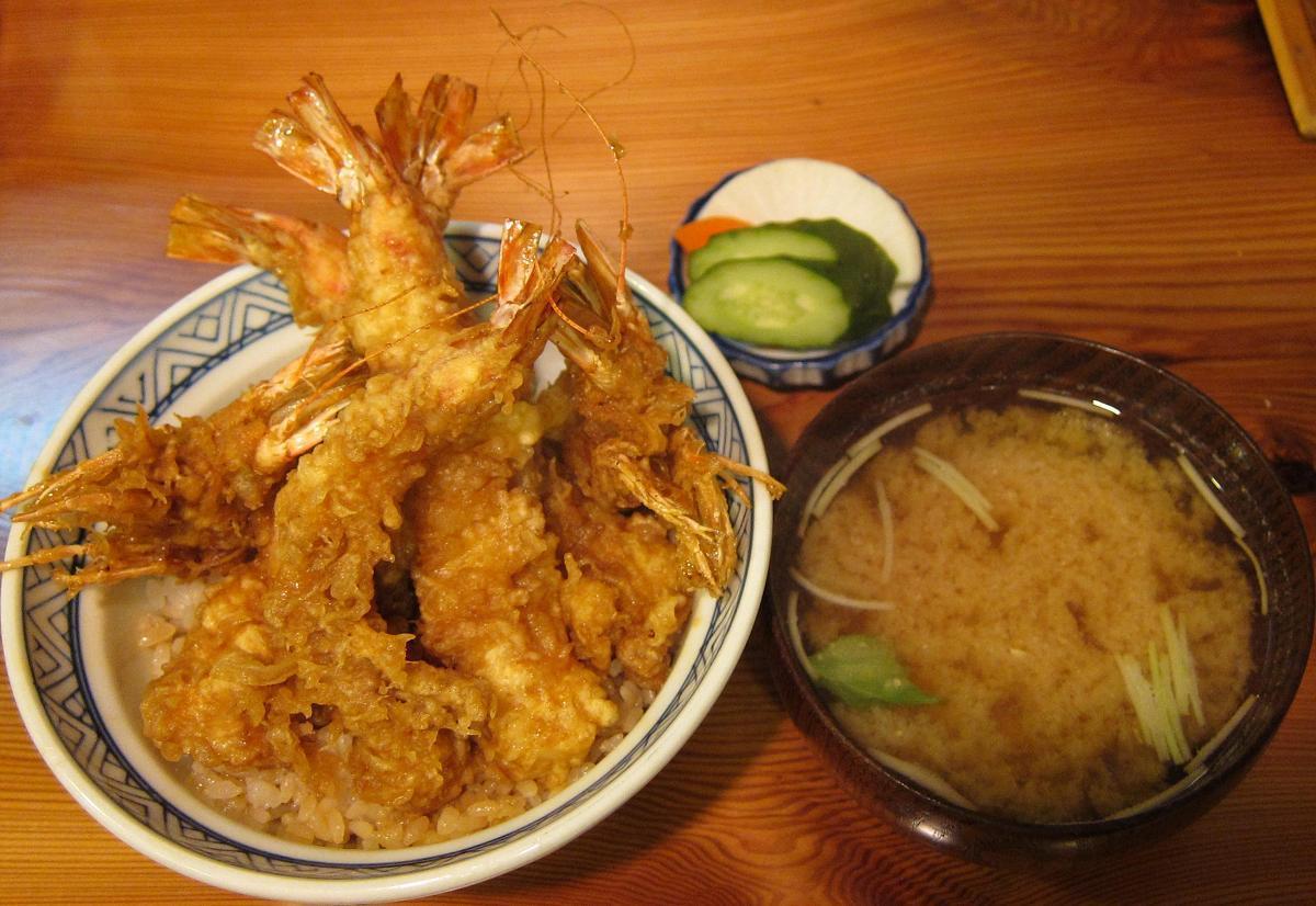 車海老天丼+味噌汁