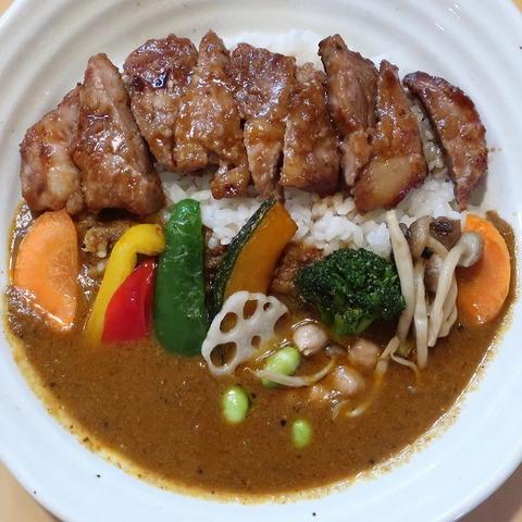 ポークソテーと野菜カレー(CHOTA)1100