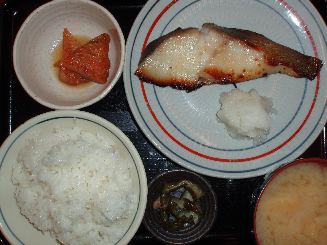 銀鱈味噌付焼定食