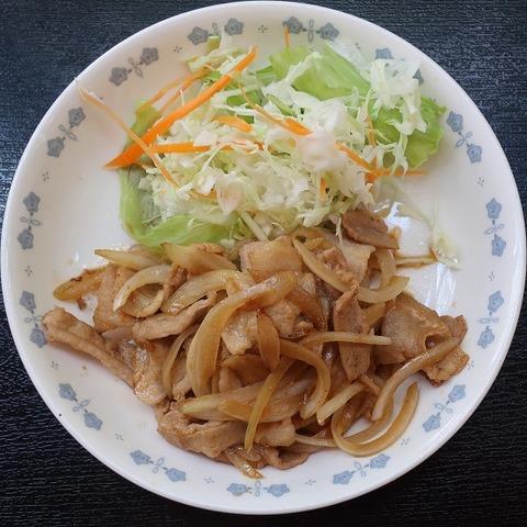 生姜焼定食(東大和食堂)530