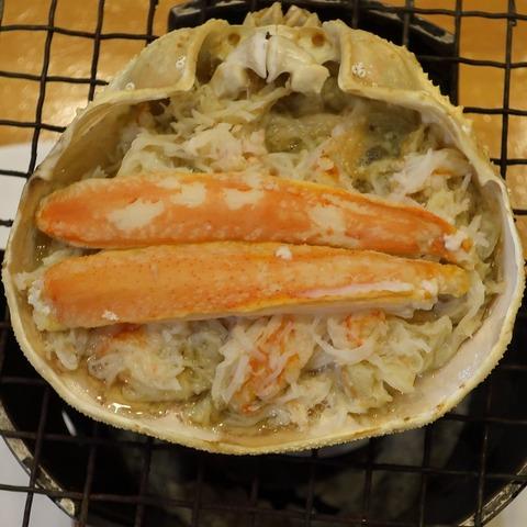 蟹甲羅焼(政寿司)1300