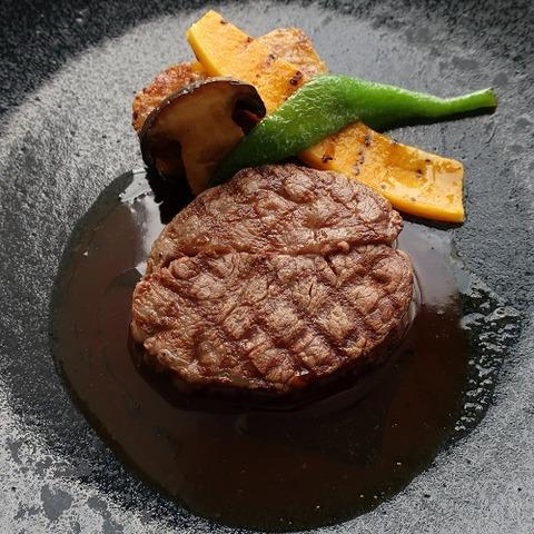 黒毛和牛フィレのグリエ セープ茸のシュブリック  山葵ソース(RPR)