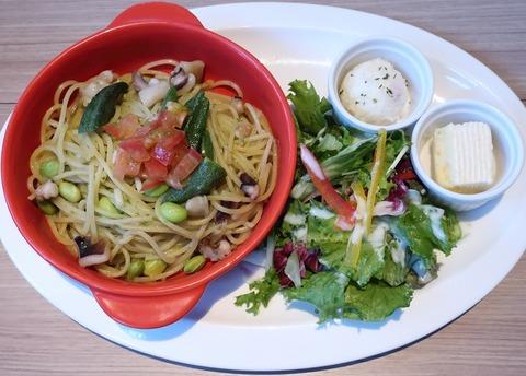 蛸と夏野菜ジェノベーゼパスタプレート(青葉)1199