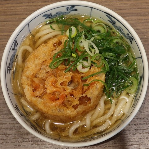 天ぷらうどん(味善)410