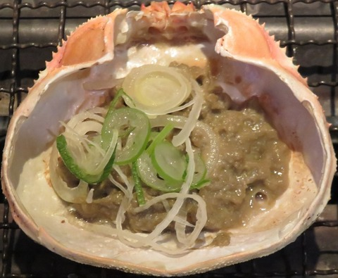 蟹味噌甲羅焼(浜焼王)538