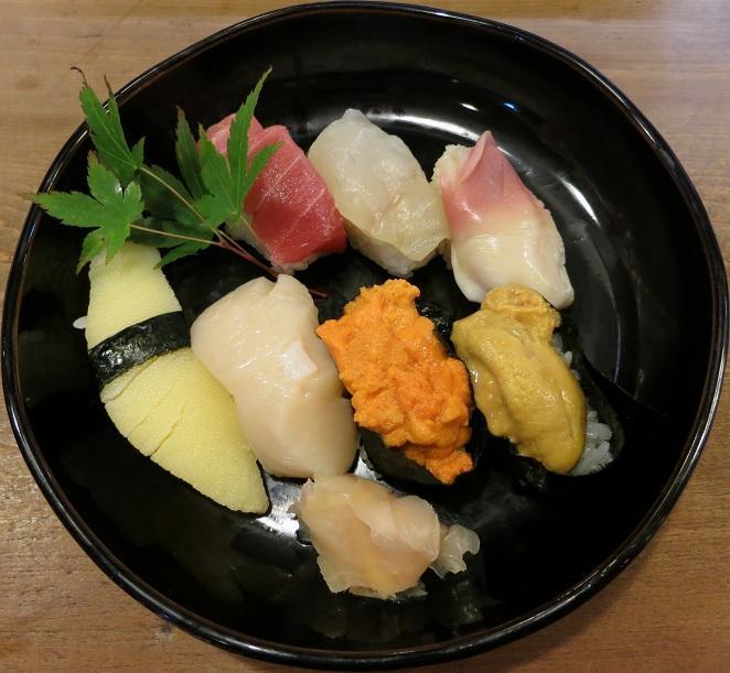 握り寿司七貫